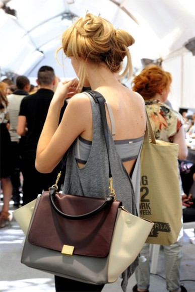 grey bag beige bag brown bag bag purse