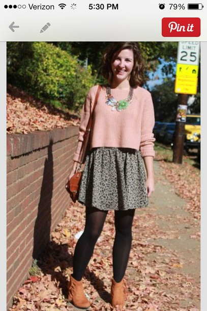 skirt grey cheetah print