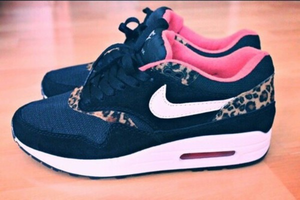 shoes air max leopard print