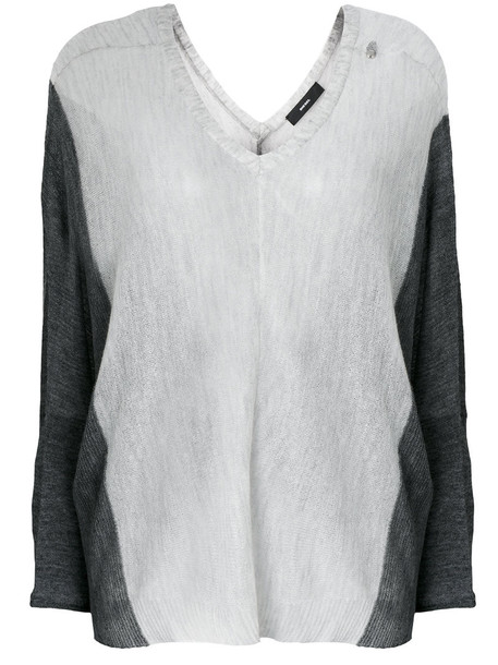 Diesel top women mohair white wool