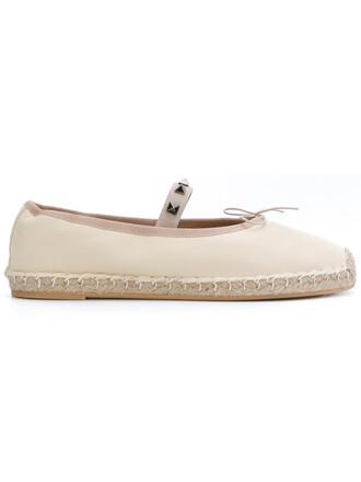 women espadrilles leather nude cotton shoes