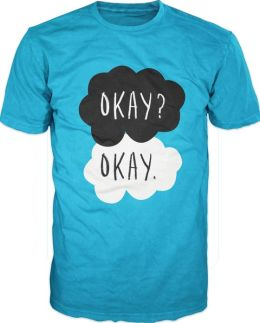 John Green Fault In Our Stars Adult Turquoise T-Shirt - S/M by Bioworld Merchandising | Barnes & Noble