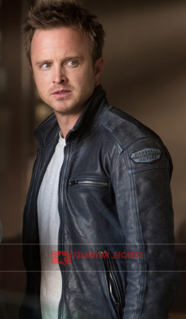 jacket need for speed movies celebrity menswear hollywood fashion lifestyle aaron paul clothes dress