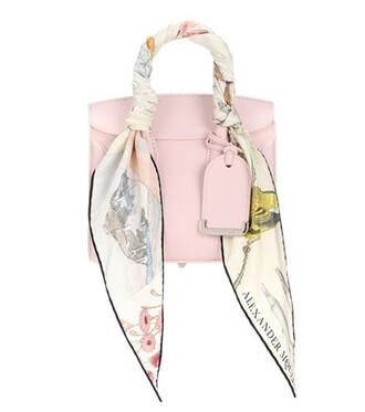bag crossbody bag leather pink