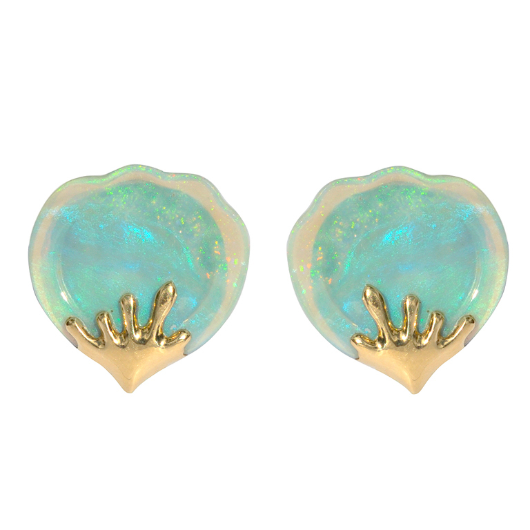 TIFFANY and CO. Opal Earrings at 1stdibs