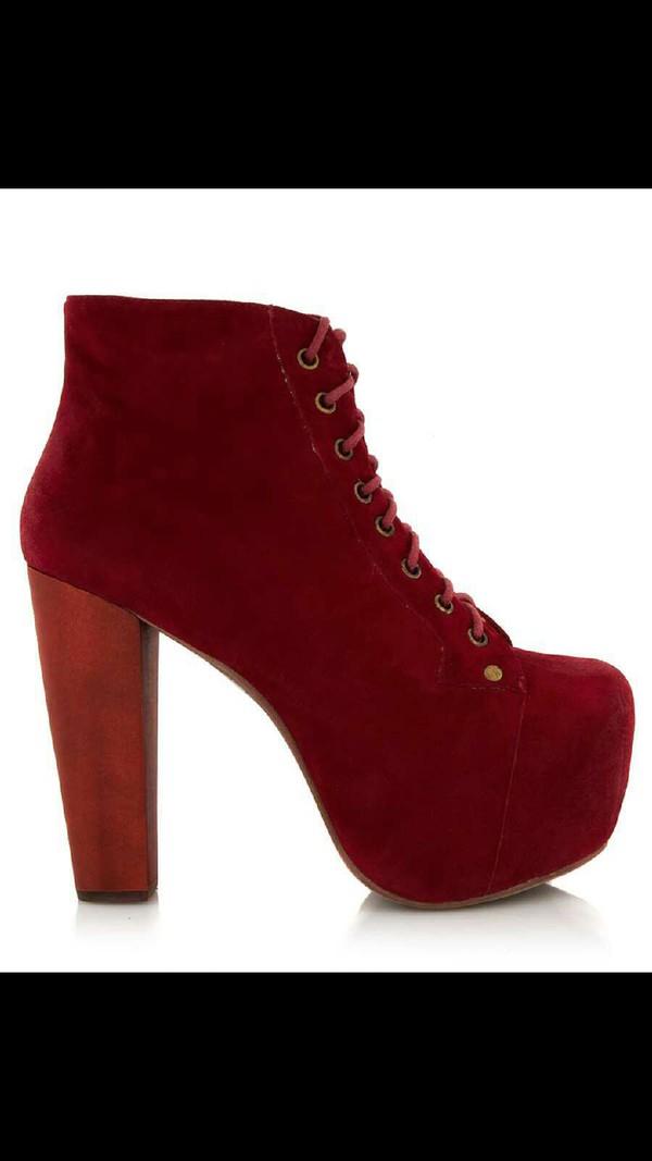burgundy shoes heels