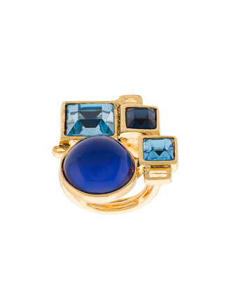 women geometric ring blue jewels