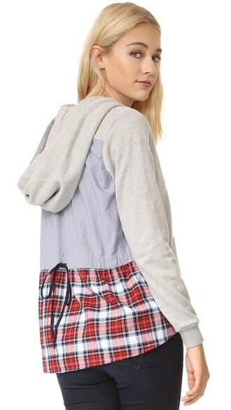 hoodie back grey heather grey sweater