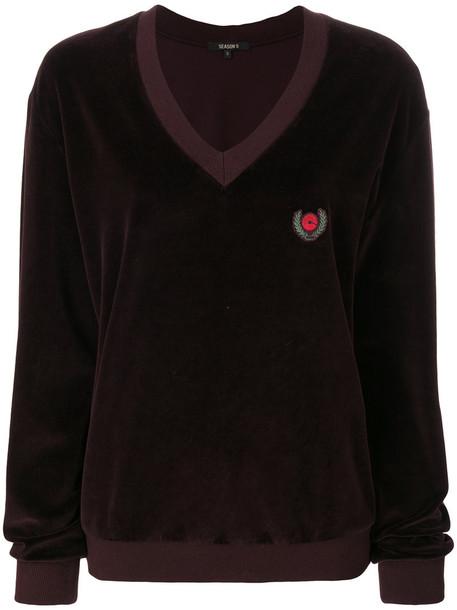 yeezy sweater women cotton velvet purple pink