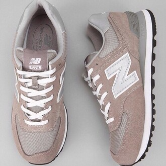 shoes new balance white pink good gold tan brown tennis shoes running shoes nude sneakers