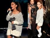 ariana grande,fall outfits,sweater weather,sweatshirt,sweater,shirt,shoes