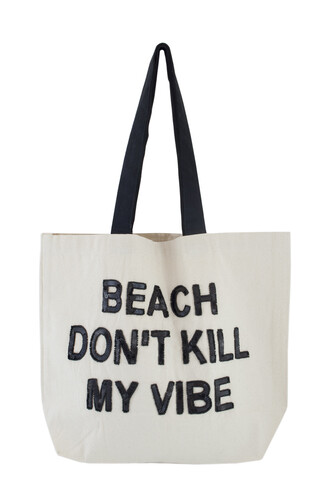 bag tote bag sequins quote on it beach bag