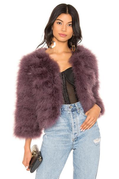 jocelyn Feather Bolero Jacket in purple