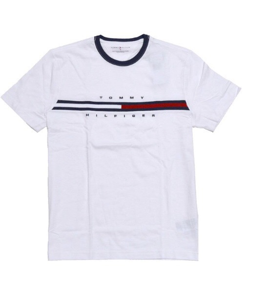t-shirt white blue red