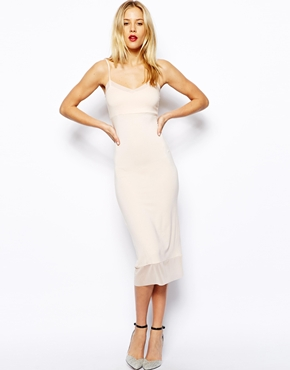 ASOS | ASOS Midi Cami Dress with Mesh Insert at ASOS