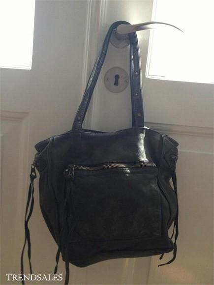 bag leather bag black zadig et voltaire shoulder bag