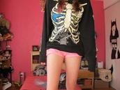 sweater,xbox,xray,rib,ribcage,black,jumper