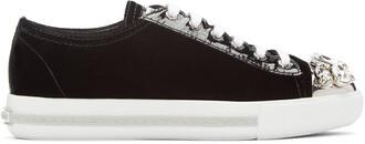 sneakers black velvet shoes
