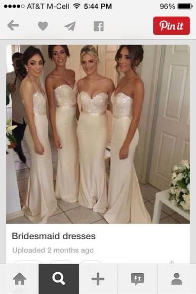 long dress prom dress wedding dress champagne dress mermaid prom dresses wedding dress promdress mermaid dress sparkly dress