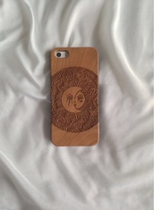 sunglasses,iphone case,iphone 5 case,wood iphone case,moon,sun,wood,jewels,phone cover,bag,where to get this case? ,wood case,wood phone case,sun and moon phone case,real carved phone wood casee,wooden,iphone,iphone case 5s