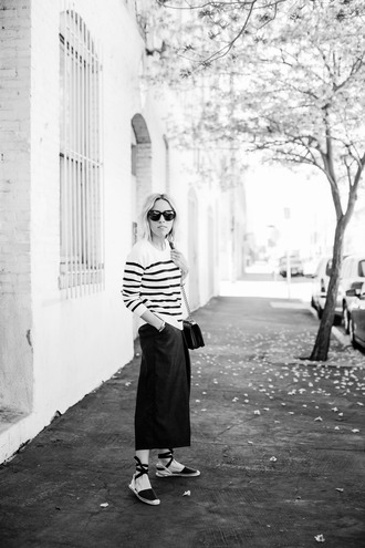 damsel in dior blogger flats striped top