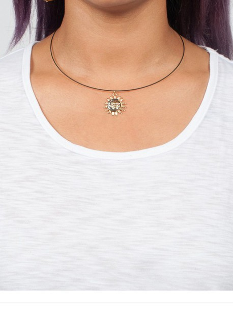 Jewels: necklace, choker necklace, moon and sun, sun and ...