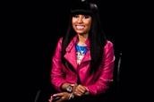jacket,nicki minaj,leather jacket,pink