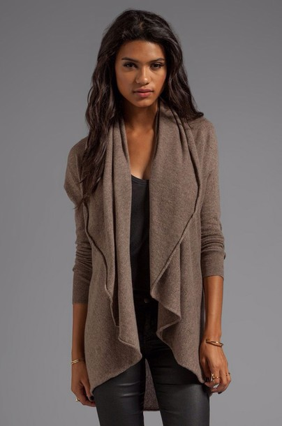 cardigan revolve clothing fall outfits cashmere convertible flare tunic convertible tunic drape cardigan rye