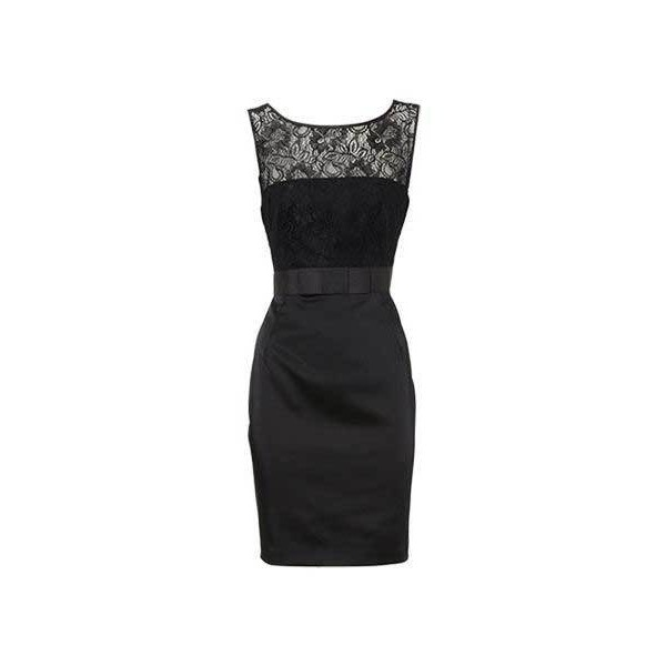 Black lace satin dress from Oasis - Polyvore