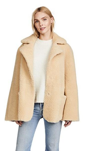 Natasha Zinko jacket shearling jacket beige