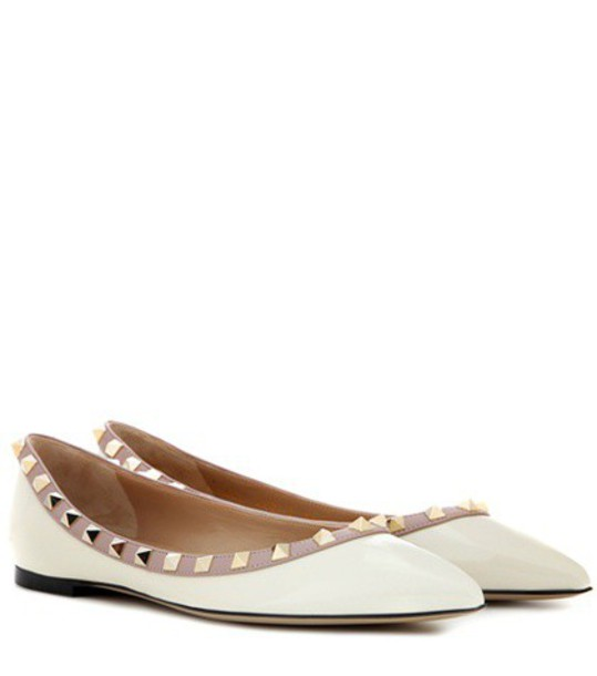 Valentino leather white shoes