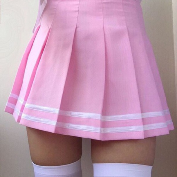 skirt, pink skirt, cute outfits, aesthetic, tumblr, pink ...