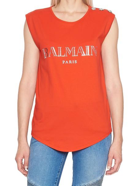 Balmain t-shirt shirt t-shirt red top