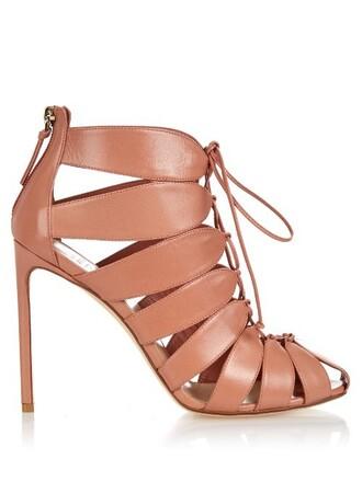 leather ankle boots boots ankle boots leather pink shoes
