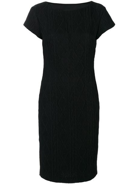 BOUTIQUE MOSCHINO dress women cotton black knit