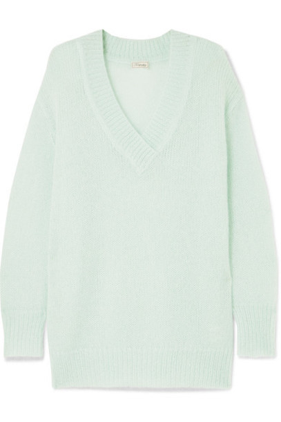 Temperley London sweater mohair mint