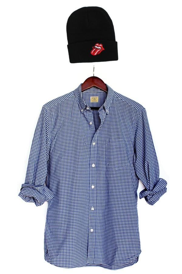 the rolling stones mens shirt menswear menswear pattern blogger hipster streetwear beanie black beanie