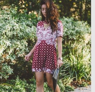 dress red dress printed dress