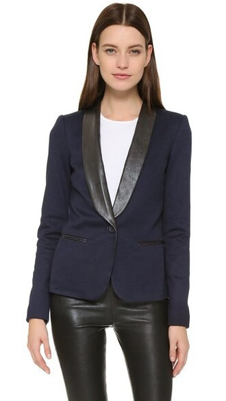 blazer blue black jacket