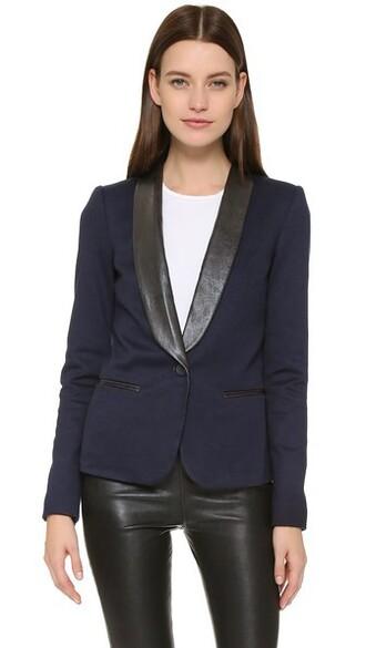 blazer blue black jacket