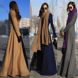 coat long coat long trench coat fall weather scarf black trench coat
