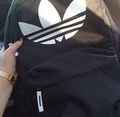 bag,adidas,adidas backpack,backpack,black and white