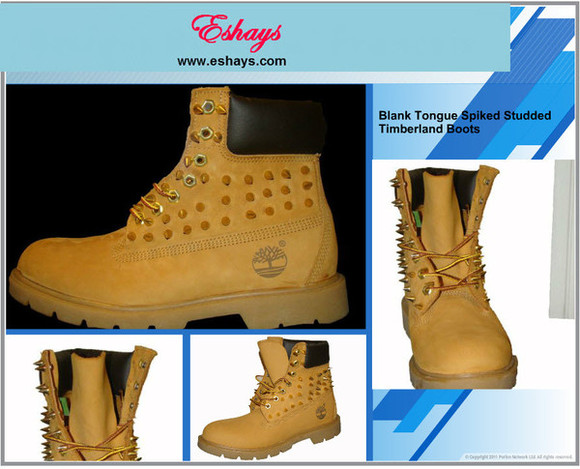 shoes spikes spike timberland boots spike boot tan timberlands www.eshays.com