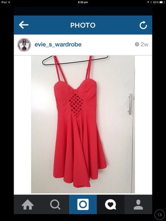 dress summer summer dress red red dress holes strappy