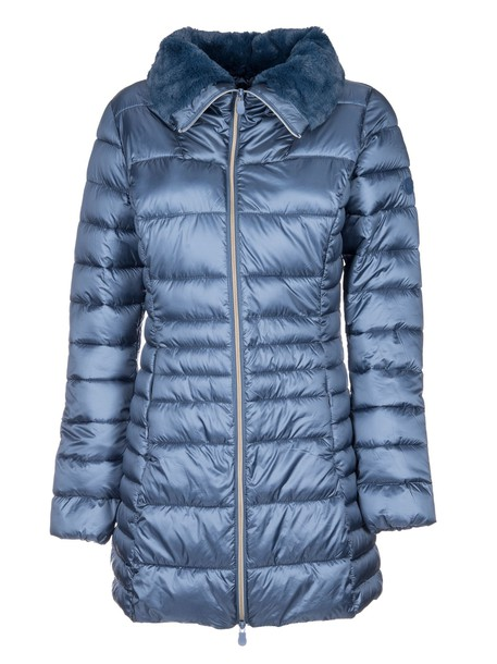 Save The Duck jacket down jacket fur blue
