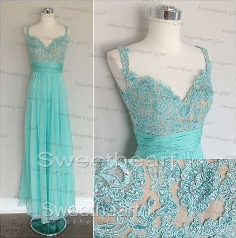 Prom Dresses Green Lace Prom Dresses