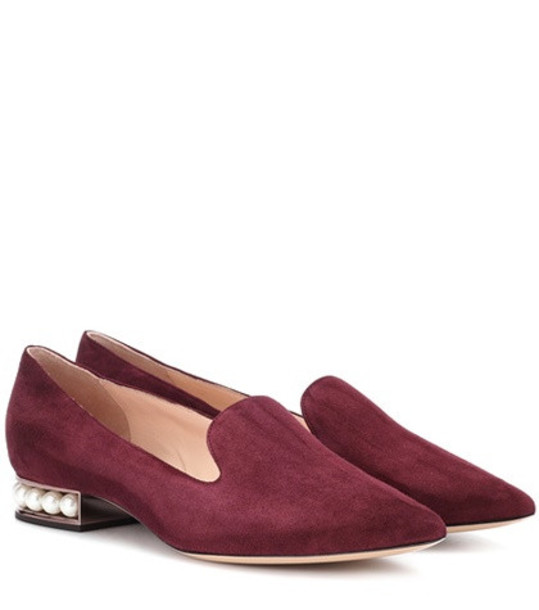 Nicholas Kirkwood Casati embellished suede loafers in purple