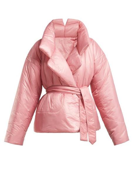 Norma Kamali - Sleeping Bag Short Coat - Womens - Pink