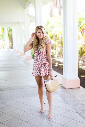 shop dandy blogger romper shoes make-up bag jewels handbag sandals high heel sandals spring outfits