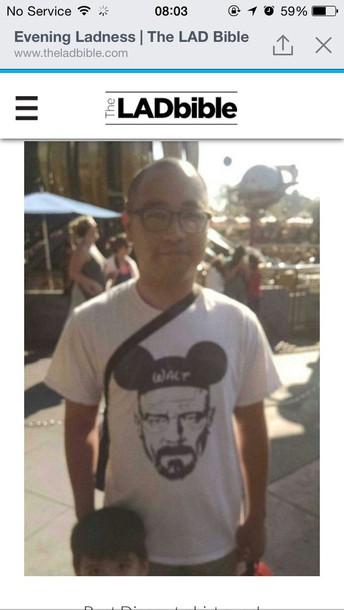 t-shirt disney Walter White Breaking Bad